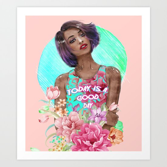 Going Floral  Art Print