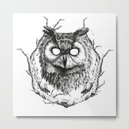 Forest Gods | Owl Metal Print