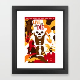 James Bond Golden Era Series :: Live and Let Die Framed Art Print