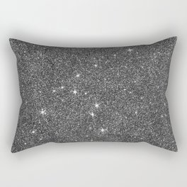 Modern elegant black faux glitter luxury pattern Rectangular Pillow