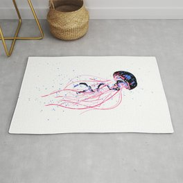 the dance - jellyfish and bubble (pink / purple) Rug