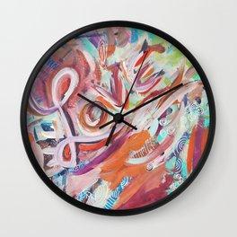 Love Grafitti Wall Clock