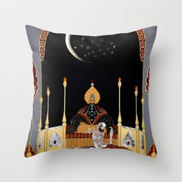 """Art Deco Exotic Design """"In the Casbah"""" Throw Pillow"""