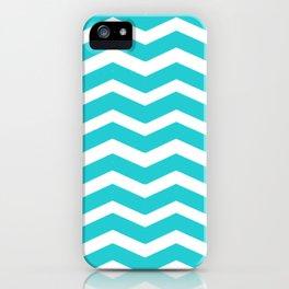 Chevron Teal iPhone Case