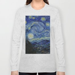 Starry Night by Vincent van Gogh Long Sleeve T-shirt
