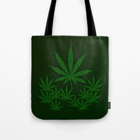 weed Tote Bags featuring Weed by Leatherwood Design
