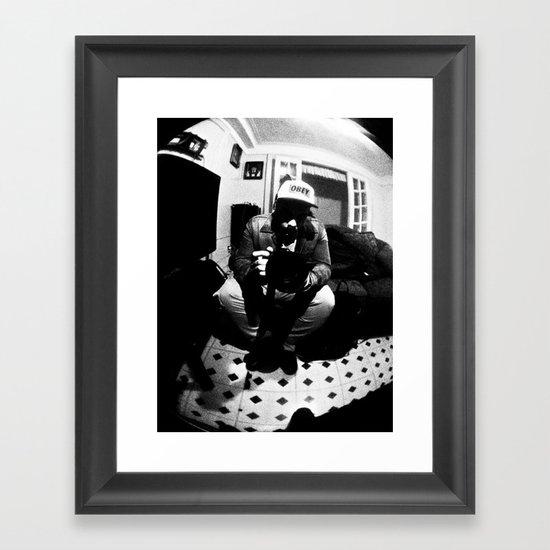 Johan B & W Framed Art Print