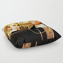 Dwight Schrute & Angela Martin (The Office: American Gothic) Floor Pillow