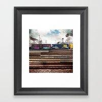 Mage Train Framed Art Print
