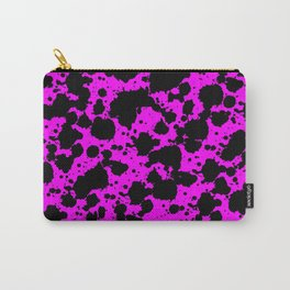 Black and Pink Leopard Style Paint Splash Funny Pattern Carry-All Pouch