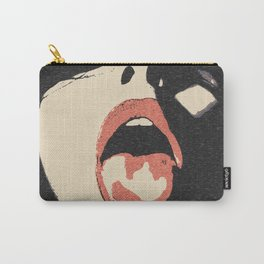 Good girl waits for her dose, submission pop art, sexy lips, erotic, seducing, sensual sketch Carry-All Pouch
