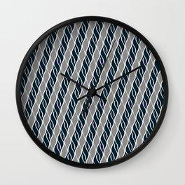 Gray and Black Stripes Wall Clock