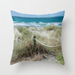 Seaside beach ropes Throw Pillow