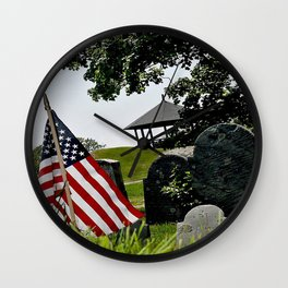 Old Burial Hill, Marblehead, MA Wall Clock