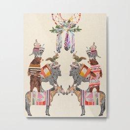 Animal Pyramid Metal Print