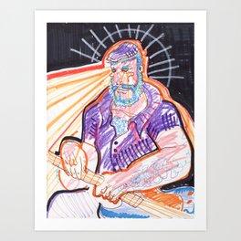 Prismatic Bret Art Print