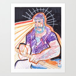 Prismatic Bret Art Print