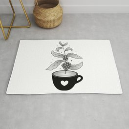 Coffee cup with Coffee plant Rug