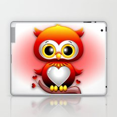 Baby Owl Love Heart Cartoon  Laptop & iPad Skin