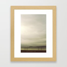 Power ran through it Framed Art Print