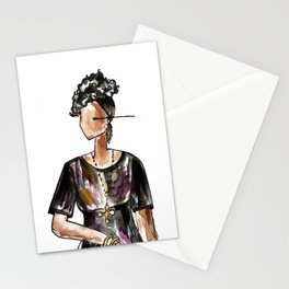 Saturday Night Party (white background) Stationery Cards