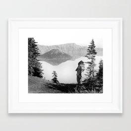 The Chief - Klamath Edward Curtis, 1923 Framed Art Print