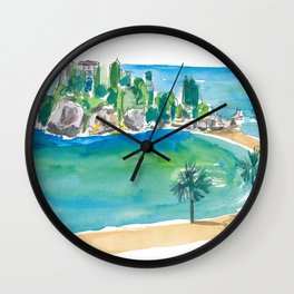 Isola Bella Taormina Beautiful Island Dreams In Sicily Italy Wall Clock