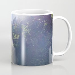 View of Multnomah Falls surrounded by forest in Oregon Coffee Mug