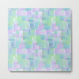 Abstraction. Purple and green brush strokes Metal Print