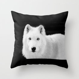 save the wolf Throw Pillow