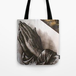 b9c2187c436f Durer s Praying Hands pictorial painted stained glass Tote Bag