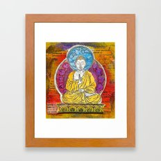 Yellow Buddha Framed Art Print