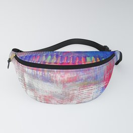 Color and white S42 Fanny Pack