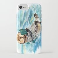 otter iPhone & iPod Cases featuring Otter by Anna Shell