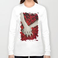 hands Long Sleeve T-shirts featuring Hands by MARIA BOZINA - PRINT