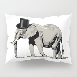 Elephant Wearing Top hat Pillow Sham