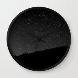 Rotating Startrails Wall Clock