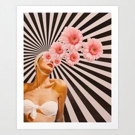 Blossom flower girl Art Print