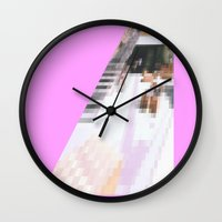 cafe Wall Clocks featuring cafe by ONEDAY+GRAPHIC