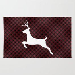 Red Black Plaid Christmas Rug
