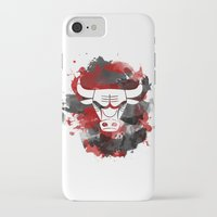 chicago bulls iPhone & iPod Cases featuring Bulls Splatter by OhMyGod, SoGood!