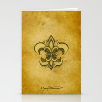 fleur de lis Stationery Cards featuring Michelle Fleur de Lis by Cindy Strecker
