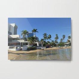Beach at Caribe Hilton, San Juan, Puerto Rico Metal Print