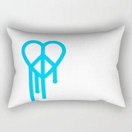 Heart peace blue Rectangular Pillow