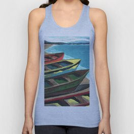 Boats In A Row Unisex Tank Top