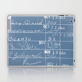 Library Card 23322 Negative Blue Laptop & iPad Skin