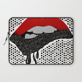 Chocolate Lover Nutty Lips Laptop Sleeve