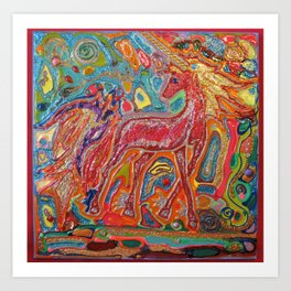 Whimsical Magical Unicorn Art Print