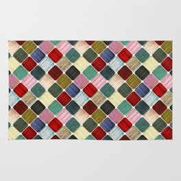 Colored Wood Pattern Rug