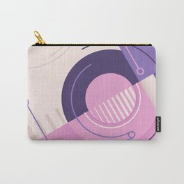 Modern geometric composition pink and blue Carry-All Pouch